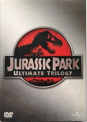DVD Jurassic Park - Ultimate Trilogy 4 Discs Slipcase Box Used