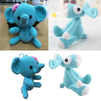 2x Animal Amigurumi Crochet Kit - DIY Toy Material Package - Children Gifts