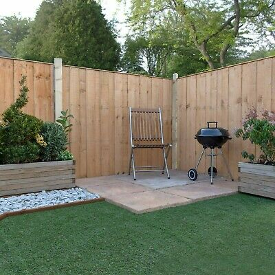 VERTICAL HIT and MISS FENCING WOODEN GARDEN DIPPED FENCE PANELS 6ft 5ft 4ft 3ft