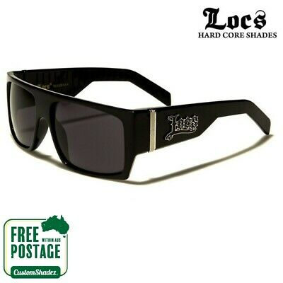 Locs Mens Sunglasses - Large Flat Top Frame - Gloss Finish - Free Postage in Aus