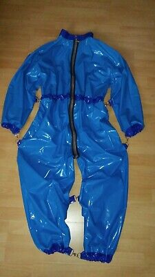Adult Baby Strampler Overall Catsuit LACK PVC SCHLAFANZUG GUMMI BONDAGE GR.XL