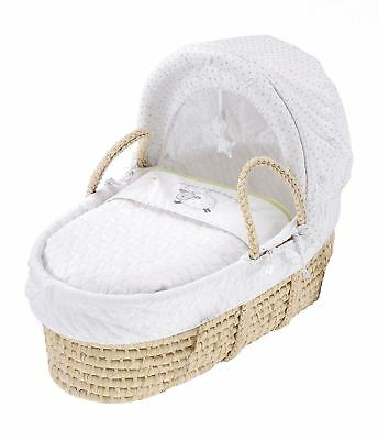 East Coast SILVERCLOUD COUNTING SHEEP MOSES BASKET Baby Nursery Furniture - NEW