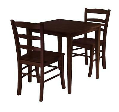 Winsome Groveland 3pc Square Dining Table With 2 Chairs 94332
