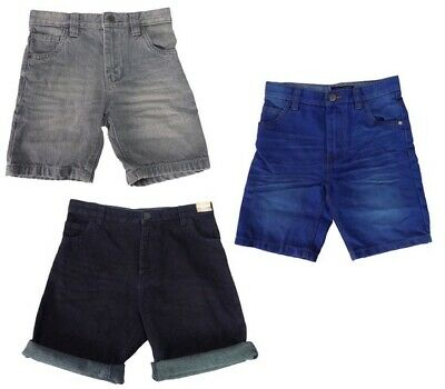 Boys Next Dark Blue Denim Shorts With Adjustable Waist Age 12 Years