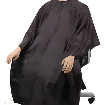 SC Adult Black Salon Hairdressing Cutting Hair Cape Cloth Cover Barbers Gown