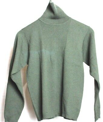 Pendleton Turtle Neck Pull Over Shirt Womens Size S Small  Green Made In USA