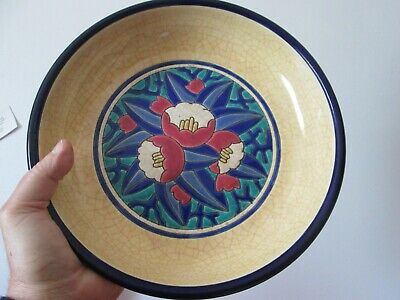 Large  Antique - LONGWY  ART POTTERY - ART DECO - WALL PLAQUE / BOWL - FRENCH