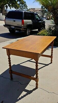 """Stickley Brothers Furniture Co. Single Drawer Desk 4ft length by 30""""wide 30""""tall"""