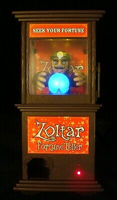 """ZOLTAR FORTUNE TELLER from BIG 9"""" Electronic Toy PALADONE Lights Sound Action"""