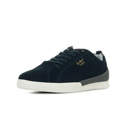 Chaussures Baskets Kickers homme Tampa taille Bleu marine Bleue Cuir Lacets