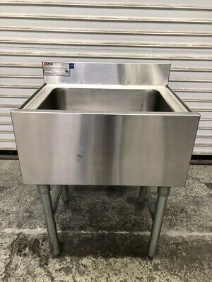 """30"""" Ice Bin Sink Drain Eagle NSF Stainless Steel Back Bar Under Counter #1940"""