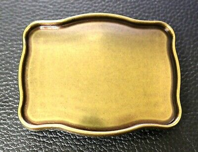 "Old English Brass Belt Buckle Blank Fits 1-1/2"" Trophy Buckle Leather Craft"