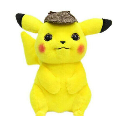 Pokémon Detective Pikachu Plush Doll Stuffed Toy Movie Gifts Home Collection
