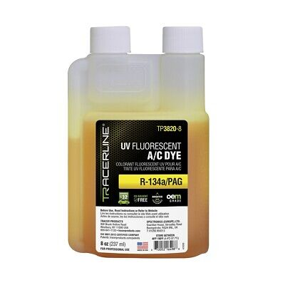8 oz (237 ml) bottle R-134a/PAG A/C dye Tracer Products TP3820-8