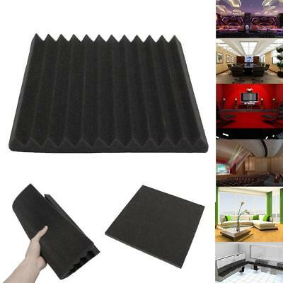 12 Pack - Acoustic Panels Studio Soundproofing Foam Wedge tiles set Treatments