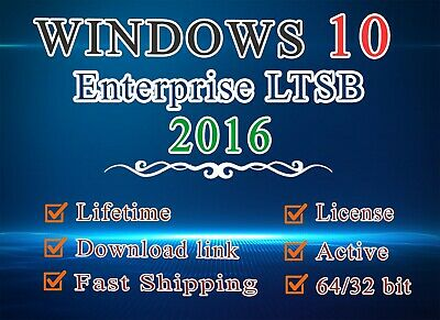 Enterprise LTSB 2016 win 10 with download installation & license key [Fast ship]