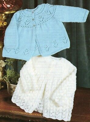 Vintage Knitting Pattern for Babies Cardigans Matinee Jackets