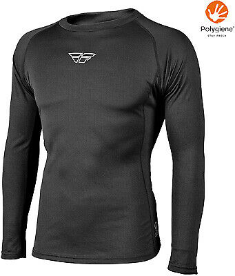 Fly Racing Street Lite Long Sleeve Top Motorcycle Riding Base Layer Black