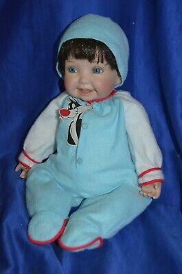"""~ Ashton Drake """"Rock a Bye Puddy"""" Baby Boy Doll Looney Tunes Cuties Collection ~"""