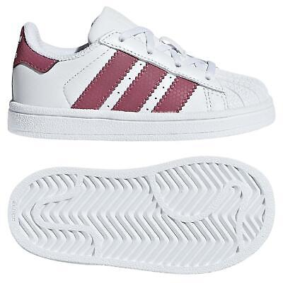c49901735e0630 Adidas Originals Enfant Lacé Superstar Baskets Blanc GARÇON FILLE Chaussures