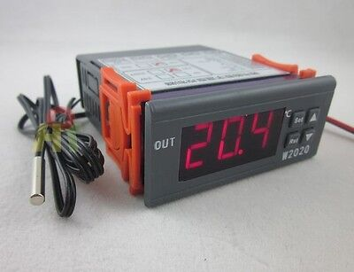 DC12V Digital Heat Cool Thermostat High Low Temperature Alarm Controller Switch