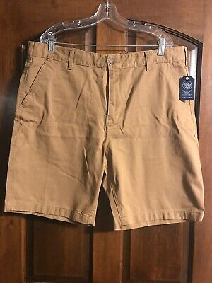 486a392230 Faded Glory Flat Front Outpost Brown Twill Short Above Knee Men's Size 42  NWT