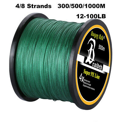 300/500/1000M Super Strong 4/8 Strand Multifilament PE Braided Fishing Line USA