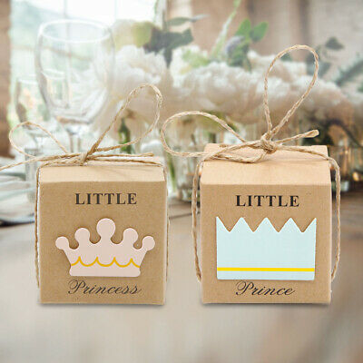 20x Baby Shower Gift Favor Little Prince Boy Girl 1St Birthday Party Candy Box