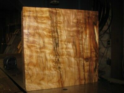 QUILTED WESTERN BIG LEAF MAPLE WOOD TURNING LUMBER 11 x 11 x 4 BOWL BLANK