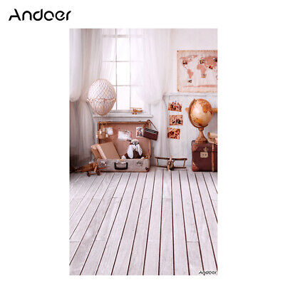 Andoer 1.5 * 0.9m/5 * 3ft Travel Theme Photography Background World Map E9A5