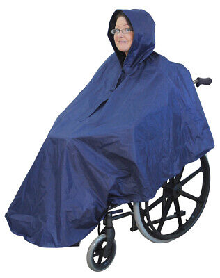 Wheelchair Poncho Waterproof Outdoor Lining Blanket Travel Leg Cover Brand New