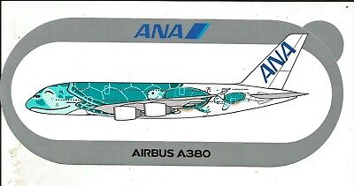 A380 ANA All Nippon Airways Turtle 2ND MODELE - NOUVEAU !!! STICKER AIRBUS