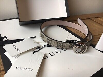 Girls Women's Gucci Authentic Brown Belt Gucci Size M Age 4-6 Designer New Hobo