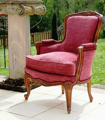 Charming vintage French Louis style chair, newly upholstered excellent condition