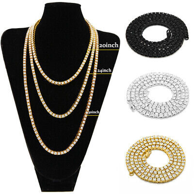 Women Men Stainless Steel Bling Bling Link Hip Hop Chain Choker Necklace Jewelry