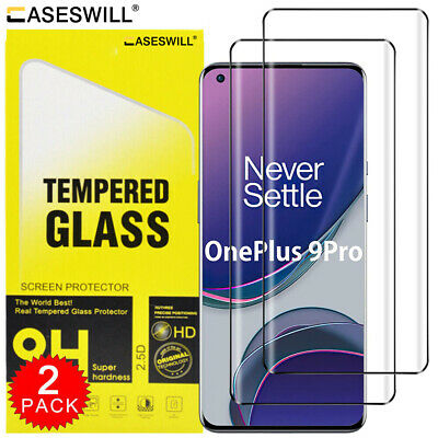 For OnePlus 7 Pro - Full Coverage Tempered Glass Film Screen Protector [2-Pack]