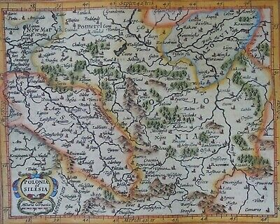 Poland, map by Hondius / Mercator, 1608, Polonia & Silesia