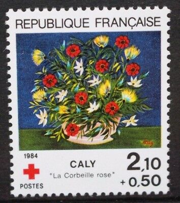 FRANCE 1984 Red Cross Fund Flowers. Set of 1. Mint Never Hinged. SG2649.