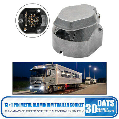 13 pin METAL ALUMINIUM SOCKET TRAILER TOWBAR TOWING car van caravan campervans