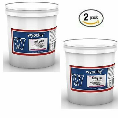 4 Pounds Total (2x2) Pound Wyoclay 100% Pure Bentonite Clay
