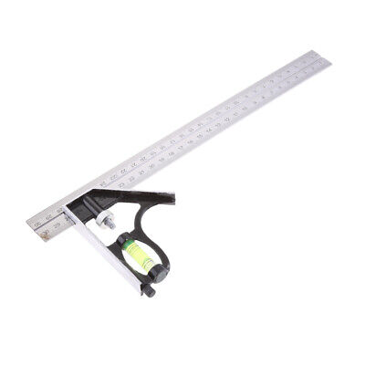 300mm Adjustable Engineers Combination Try Square Set Right Angle Ruler