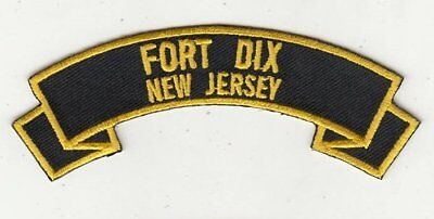 """Fort Dix 4"""" rocker tab embroidered patch"""