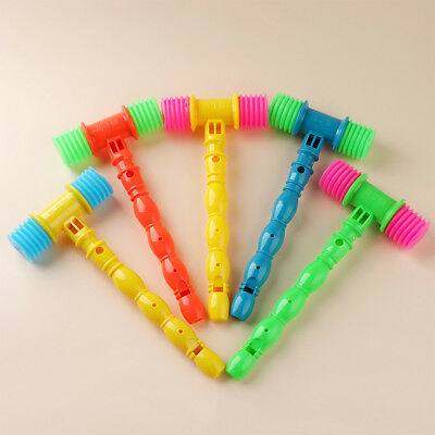 Funny Instrument Toy Vocal Knocking Hammer Infant Baby Whistles Musical Gifts
