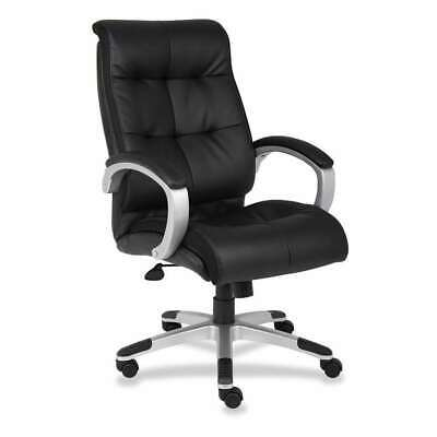Lorell Classic Executive Leather Swivel Chair, Black - LLR62620