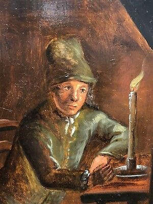 Mono Gram Crap - Oil Painting Italy 18-TES Century Thoughtful Mann