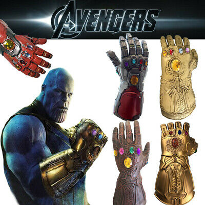 Avengers Endgame Infinity Gauntlet Gloves Iron Man Cosplay Party Gloves Toy Gift