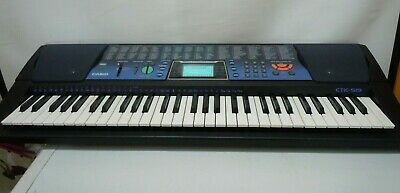 Casio Ctk-519 Full Size 61 Key Electronic Keyboard Tones Rhythm Lesson Mode