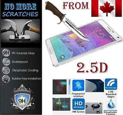 2.5D 9H REAL Tempered Glass Samsung Galaxy Note4 Note 4 Screen Protector protege