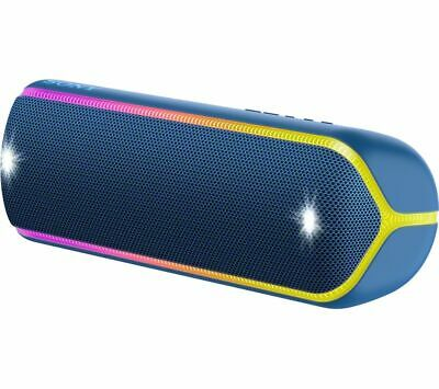 SONY EXTRA BASS SRS-XB32 Portable Bluetooth Speaker - Blue - Currys