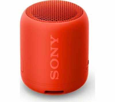SONY EXTRA BASS SRS-XB12 Portable Bluetooth Speaker - Red - Currys